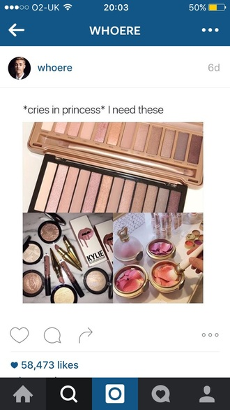 make-up makeup brushes makeup palette beautiful pretty buff ting cute girly rose pink gold nude nars cosmetics mac cosmetics
