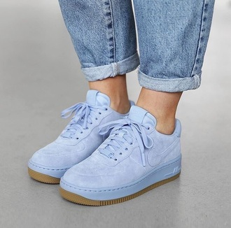 shoes nike air nike nike shoes nike air force nike air force 1 blue baby blue low nike  blue  light nike blue