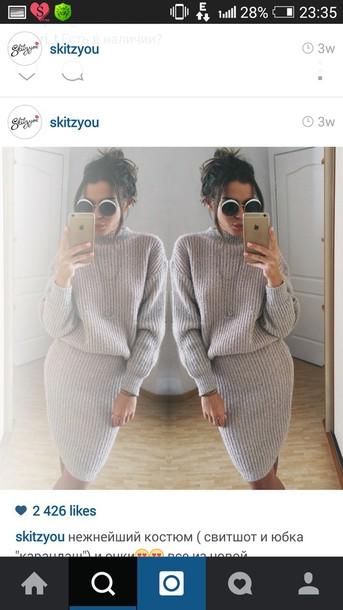 dress knitted dress