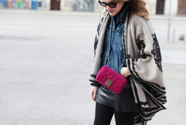 my daily style jacket skirt bag shoes sunglasses