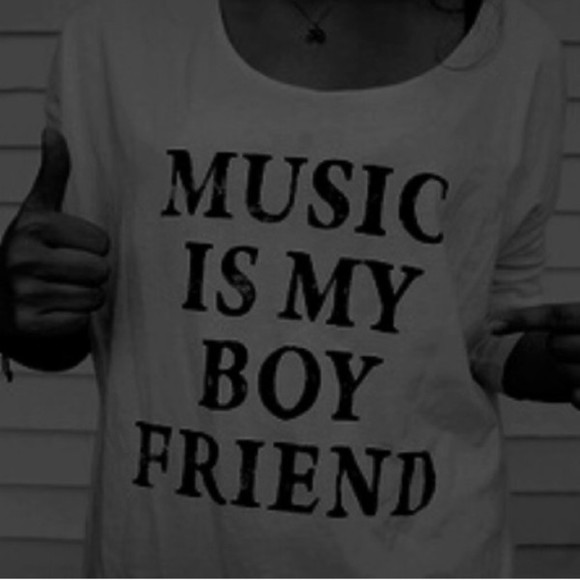 t-shirt music boyfriend