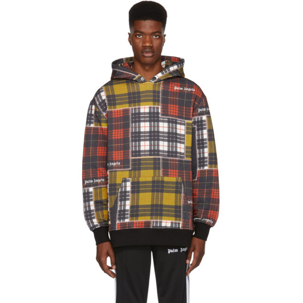 Palm Angels Multicolor Patchwork Hoodie