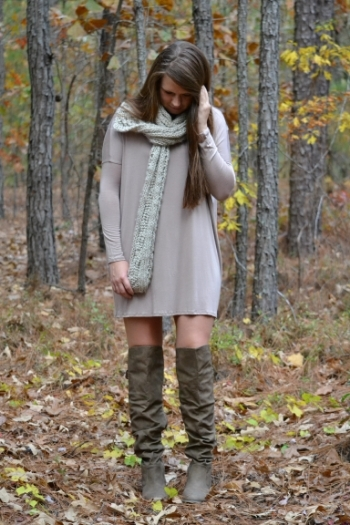 Oversized and relaxed dress