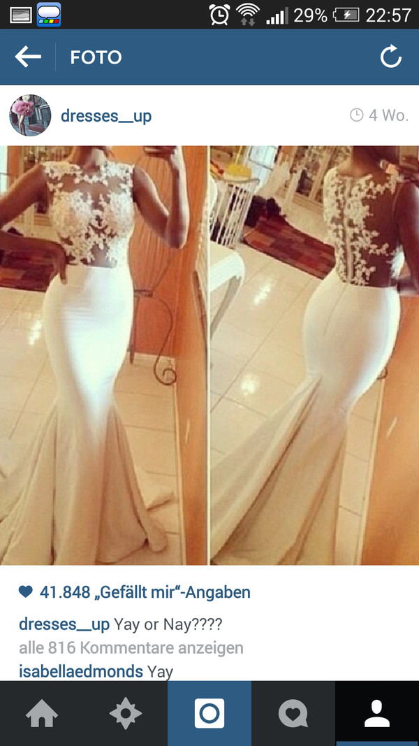 wedding dress prom dress white dress stained dress beauty fashion shopping lace thight wedding dress