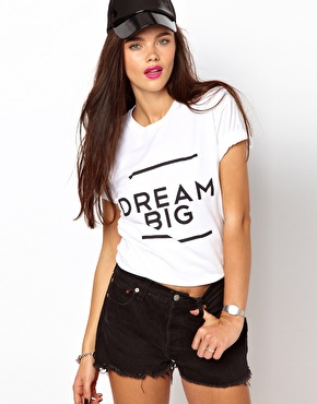 Brashy Couture   Brashy Couture - Dream Big - T-shirt chez ASOS