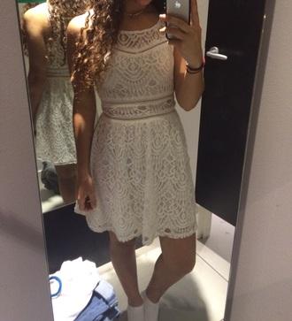 dress white h&m simmetric hot body girl elegant summer dress white dress lace dress boho dress