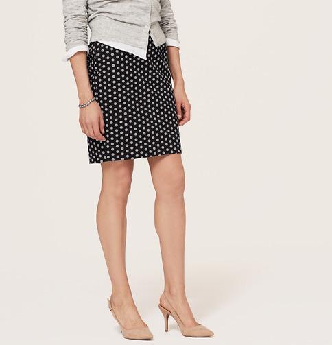 Polka Dot Pencil Skirt | Loft