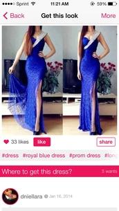 dress,prom dress,long prom dress,royal blue dress,royal blue prom dress,gown,long,fashion,royal blue,prom