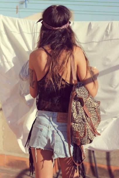 t-shirt clothes bag leopard print blouse tank top singlet see through top shirt hippie hipster love summer top summer shorts summer music