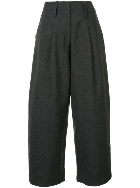 women wool grey pants