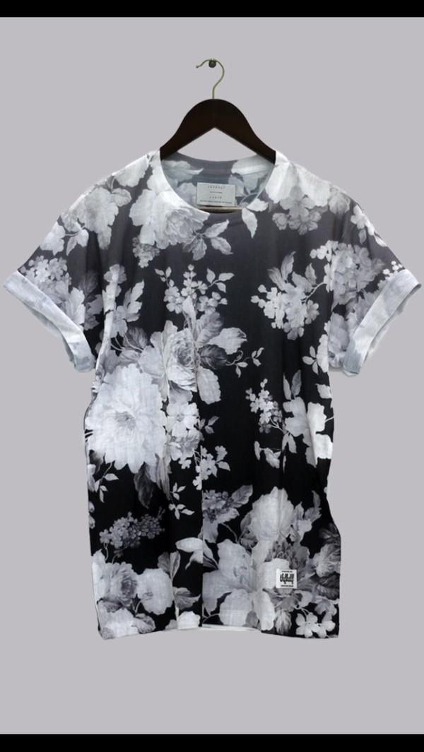 t-shirt floral menswear shirt