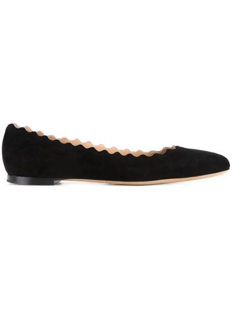 Chloe women suede black shoes