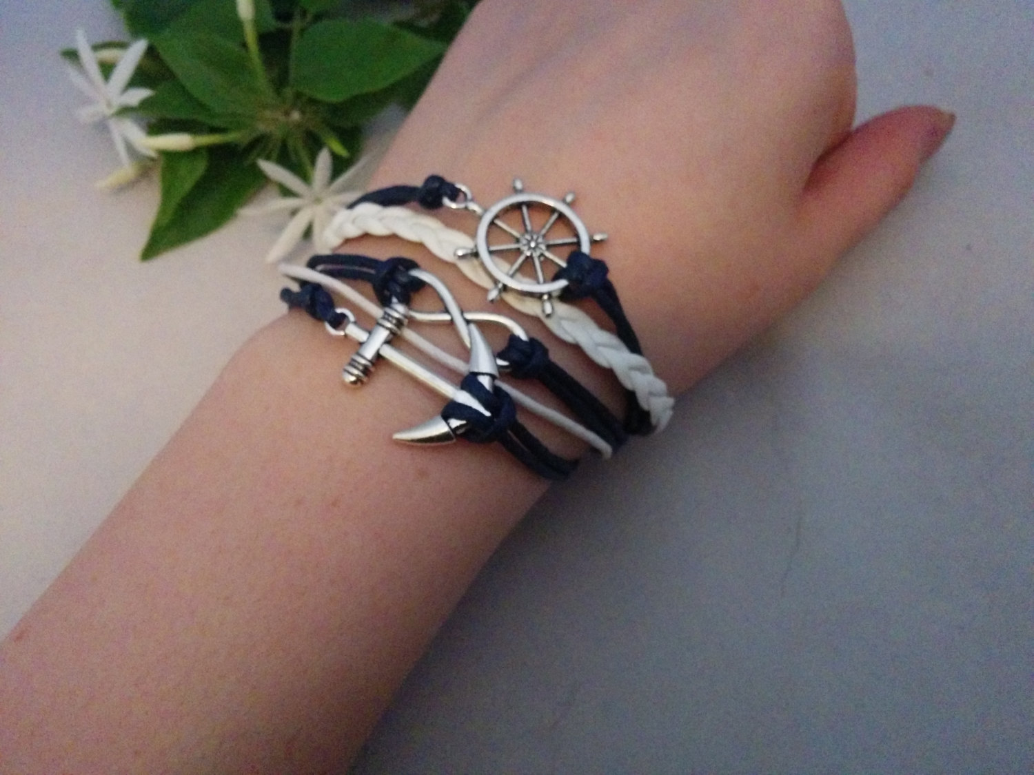 Ahoy Sailor! ~~~ (Salt Life Infinity charm multi layered bracelet) -