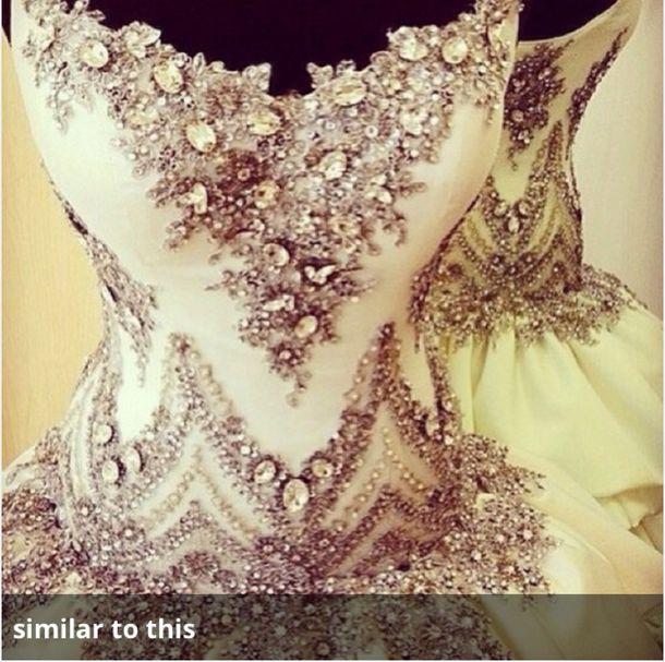 Dress Corset Elegant Jems Wedding Rhinestones Prom