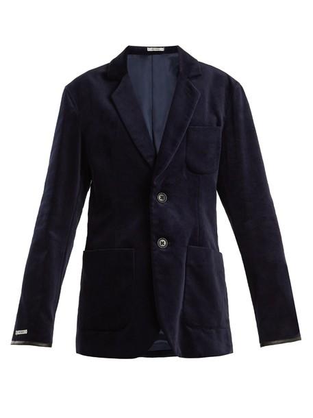 blouse blazer leather cotton velvet navy jacket