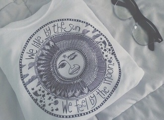 top white top moon suglases croptop blackandwhite black t-shirt white t-shirt t-shirt shirt sun tumblr