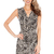 Animal Print Wrap Front Dress