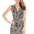 Animal Print Wrap Front Dress