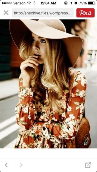 floral dress hipster
