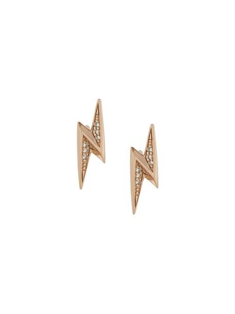 mini women earrings stud earrings gold yellow orange jewels