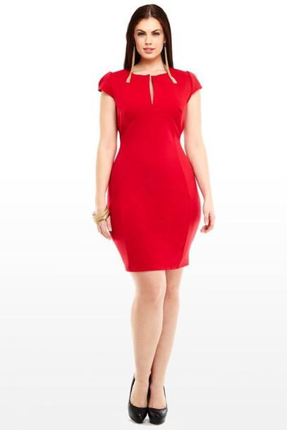 dress, chloe marshall, model, plus size, curvy, red dress, bodycon ...