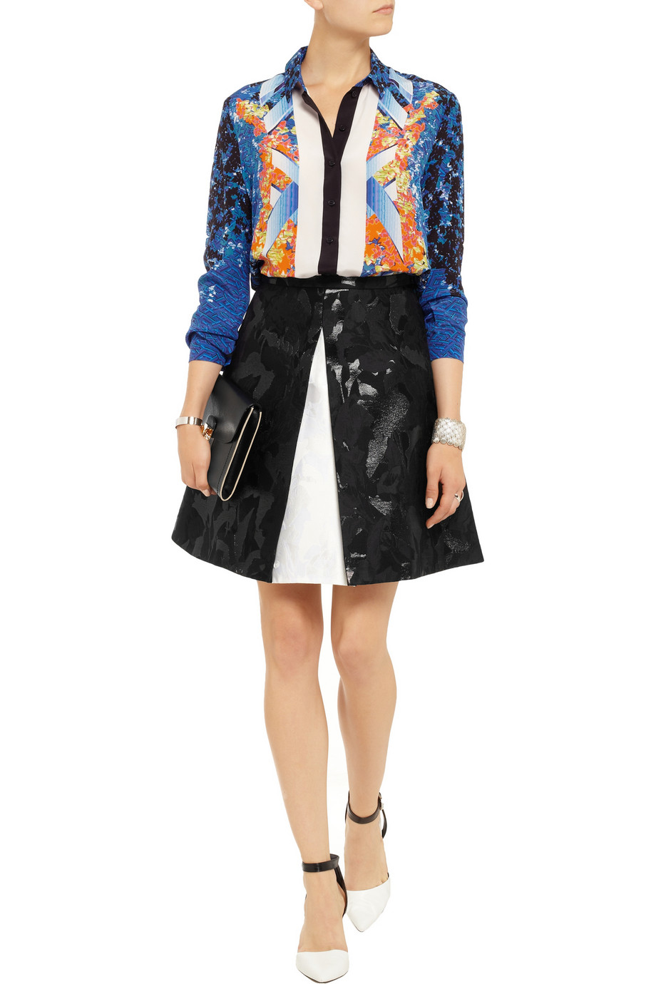 Peter pilotto arrow printed silk shirt – 70% at the outnet.com