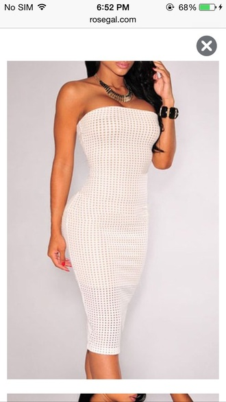dress body sexy summer dress white dress bodycon dress party dress sexy dress midi dress midi bodycon sexy party dresses strapless sleeveless dress girl curvy white tube dress