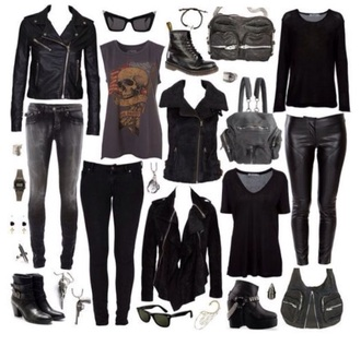 shirt short jeans rock dark grunge shoes fashion style boho shirt sunglasses