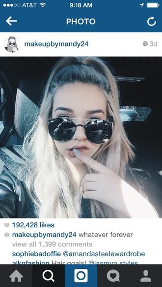 sunglasses hat nail polish