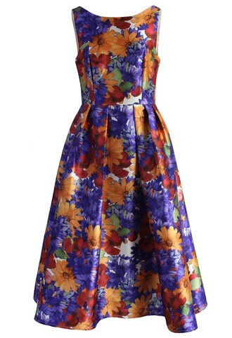 dress floral season printed prom dress chicwish prom dress floral print