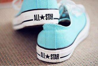 shoes light blue all stars converse turquoise low ankle all stars blue all stars
