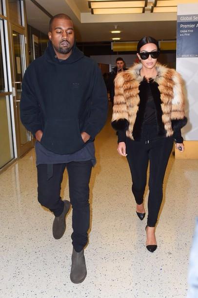 kim kardashian fur coat