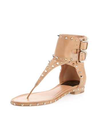 Alexander Wang Masha Double-Strap Slide Sandal - Bergdorf Goodman