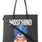 Moschino - teddy bear logo tote bag - women - polyurethane - one size, black, polyurethane