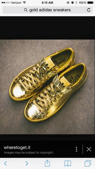 shoes gold adidas jeremy scott
