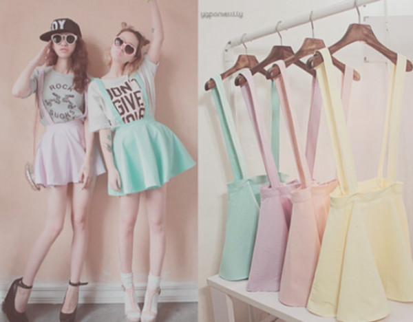 skirt overall skirt shirt shoes pink yellow