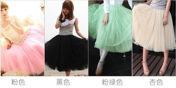 Princess Fairy Style 3 layers Voile Tulle maxi Skirt Bouffant Puffy Ball Gown Fashion Long Skirts Free Shipping-in Skirts from Apparel & Accessories on Aliexpress.com