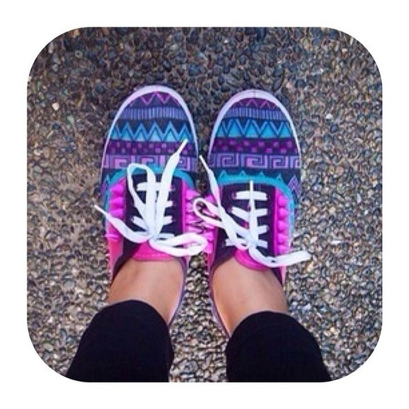 tribal pattern tribal shoes vans tribal print