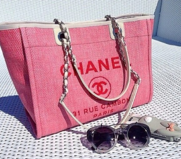 bag pink tote bag chanel chanel bag tote purse
