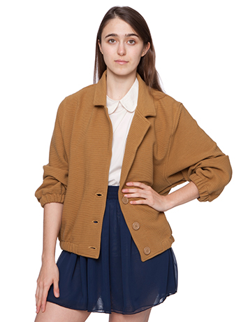 Cotton ottoman rib jacket