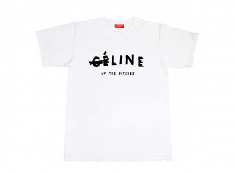 CE LINE UP THE BITCHES TEE [WHITE] |