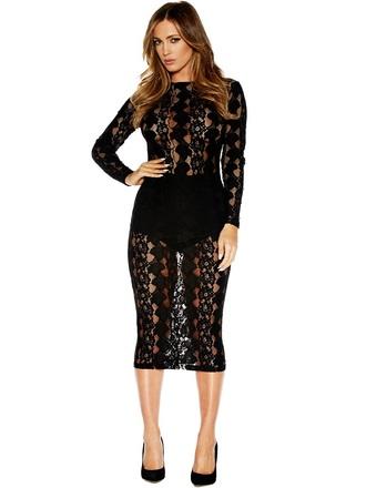 dress little black dress tumblr hipster girly lace