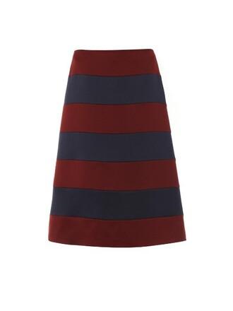 skirt satin blue