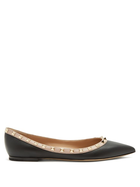 Valentino flats leather flats leather black shoes