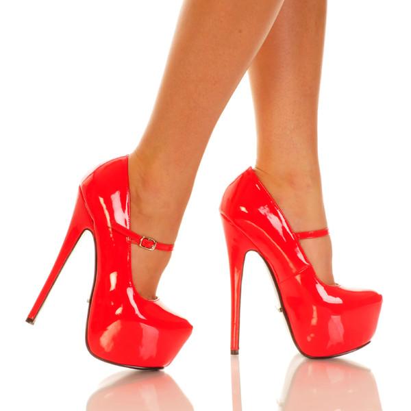 Red Patent Heels