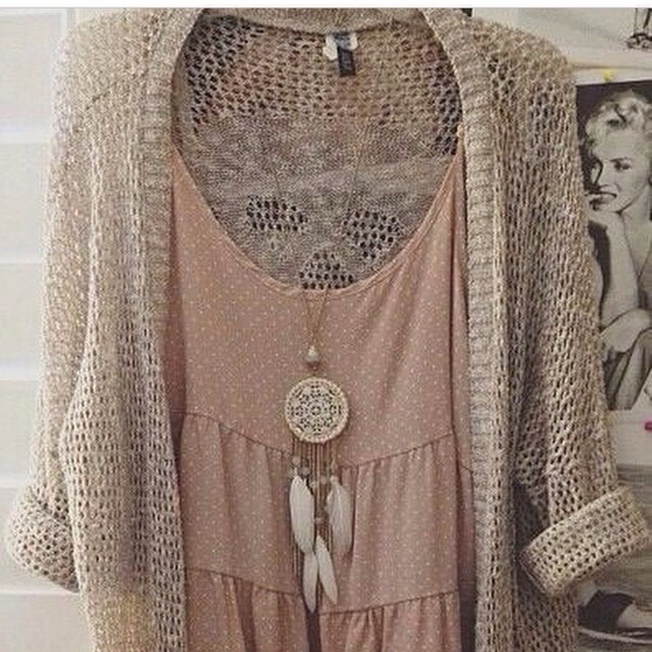 jewels necklace cardigan shirt