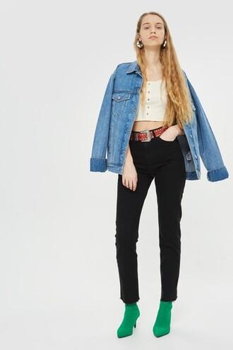 jeans straight jeans black