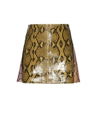 skirt mini skirt mini python