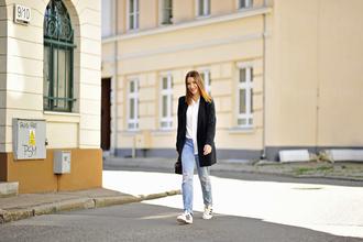 shiny sil blogger jeans blouse jacket shoes bag