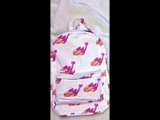 bag emojis backpack backpack pink emoji print emoticons emoji school bag girl girly girly bag white pink and white white and pink printed backpack emoji book bag dope nice